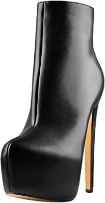 Womens Slim Fit Heels Pointed Toe Snake Pattern Leather Side Zip Mid Calf Boots