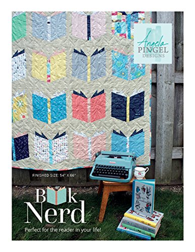 "Angela Pingel Designs- Book Nerd Quilt Pattern, Finished size 54"" x 66"""