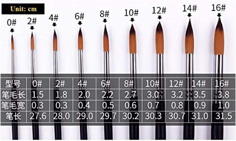 set di pennelli con manico lungo olio Dorall 9 pezzi per pittura ad acquerello acquerelli 0-16# colori acrilici