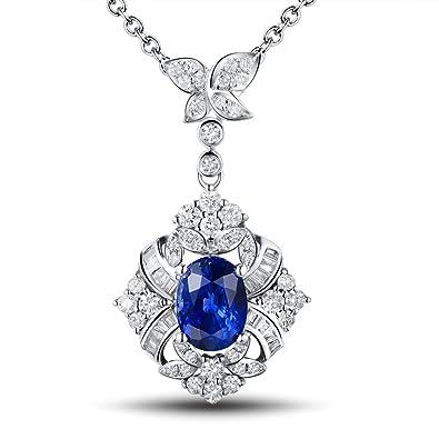 Amazon.com  Lanmi Antique Vintage Natural Oval Cut Blue Sapphire ... abe1598bce