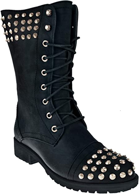 Studded Combat Boots For Girls