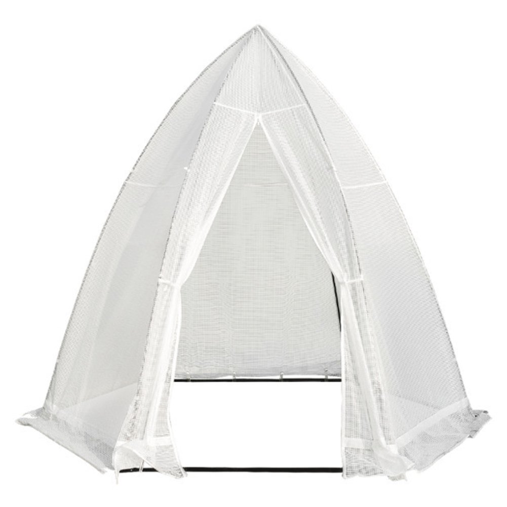 Abba Patio Portable 10.4'D x 9'W Hexagonal Walk in Greenhouse Fully Enclosed Lawn and Garden Outdoor Tent with Window, White by Abba Patio