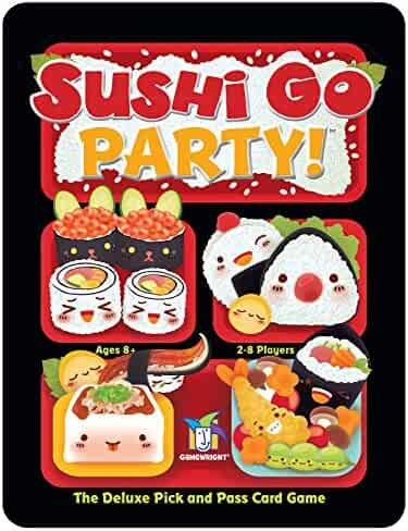 Gamewright Sushi Go Party! - The Deluxe Pick & Pass Card Game