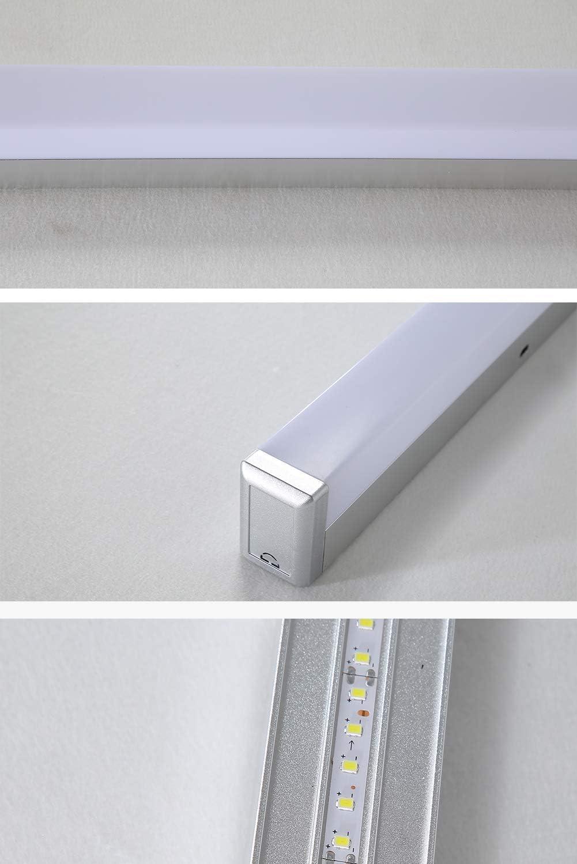 LED Spiegelleuchte Badlampe 15W Beleuchtung Spiegelschrank Bad Spiegellampe Wandleuchte AC190-240V, 4200K Weißes Licht(60cm)