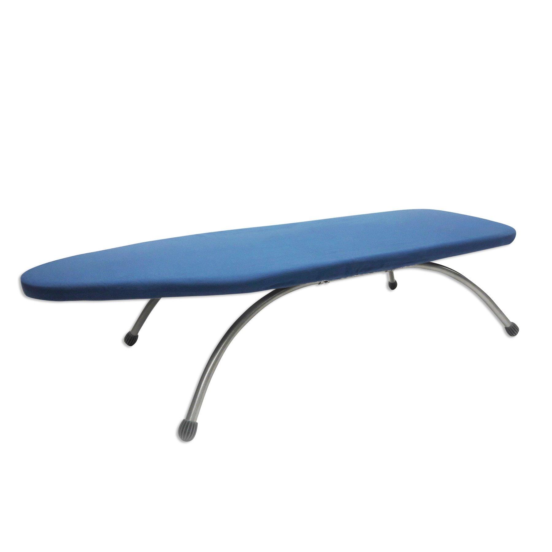 HOMZ Premium Steel Large Countertop Ironing Board, Anywhere Ironing Board, Blue