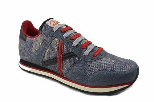 Zapatillas Munich Massana Azul Camuflaje 45 Azul: Amazon.es: Zapatos y complementos