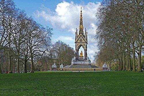 Home Comforts LAMINATED POSTER London England Hyde Park Prince Albert Memorial Poster 24x16 Adhesive (Albert Memorial)
