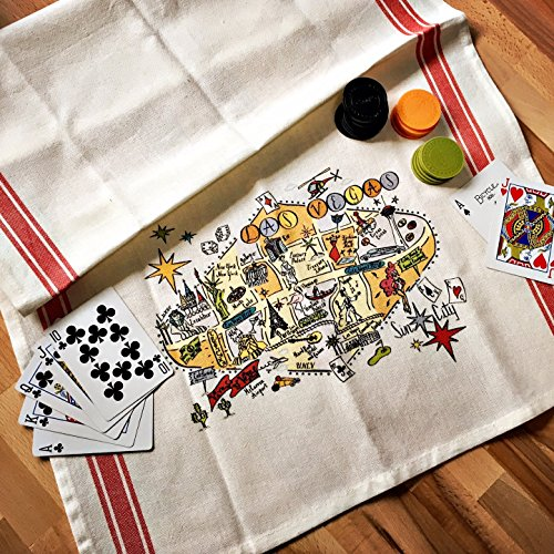 Tea Las Vegas (Las Vegas Map Kitchen \ Tea Towel)