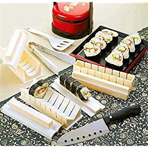 Skuleer£¨TM)Now sushi rolls Sushi set boat Home Dinner Healthy Sushi Maker Kit Rice Mold Making tools DIY kitchen Accessories Cooking Tools