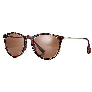 Dada-Pro Vintage Polarisierte Damen Sonnenbrille - Fahrer Brille 100% UV400 Schutz für Autofahren Reisen Golf Party und Freizeit (Blue) sPBYXuXA