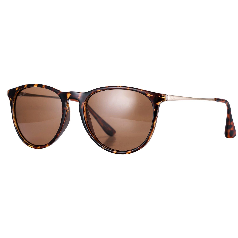 Pro Acme PA4171 Women's Round Polarized Sunglasses, 54mm (Polarized Brown Lens)