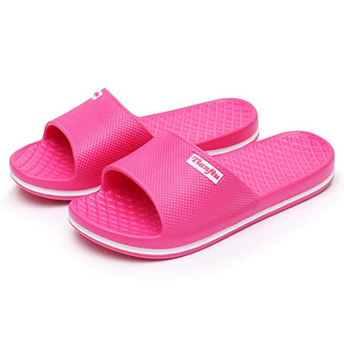 725bb07b4 MIYA Unisex Bathroom Slippers Womens Mens Slides Shower Sandal Anti-Slip  Household Shoes Beach Pool Flip