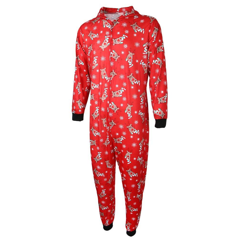 B Baosity Juego de Pijamas Navidad A Juego Ropa Dormir Mono Capucha Mujer Regalo Personal Apariencia Atractiva