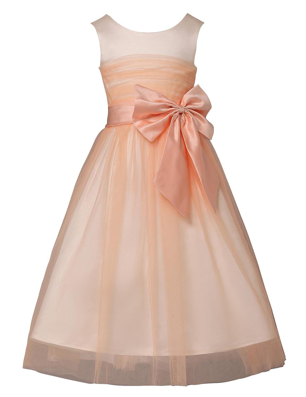 Yafex Damen Kind Mädchen Hochzeit Brautmoden Prinzessin Kleid ZY4837 ...