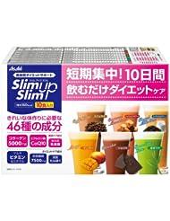 日亚: Asahi 朝日 SlimUpSlim 减肥代餐 瘦身营养冲剂   1727日元约¥89