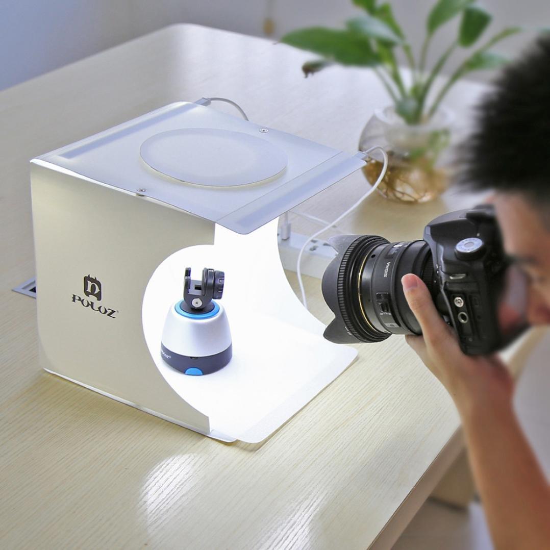 Mamum Scatola con doppia luce LED luce per studio fotografico, tenda illuminante per fotografia