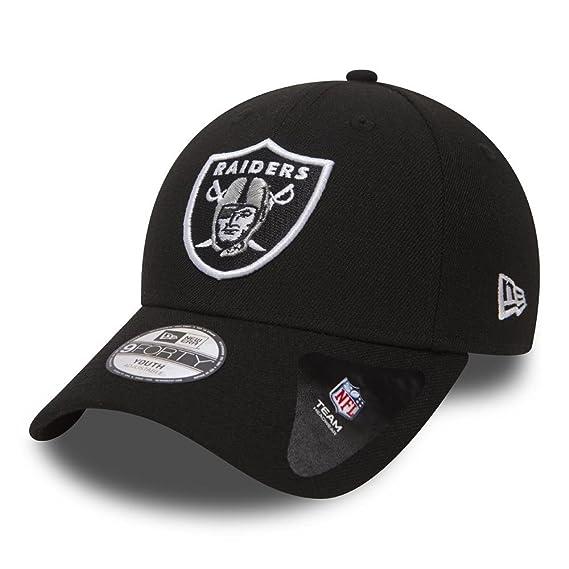 8acf373c9f92 Oakland Raiders New Era Youth Jeunes NFL 9Forty  quot The League quot   Adjustable Hat Chapeau