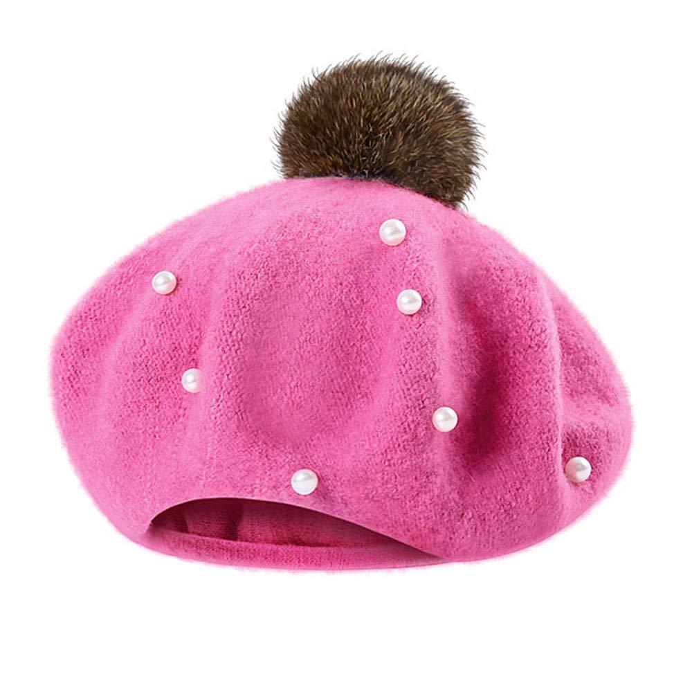 Mamum Mignon Bébé Hiver Chaud Bambin Enfant Tricot Crochet Bonnet Chapeau Enfant Fille (Gris) XXH-18102316 Mode