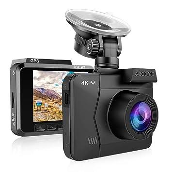 Cámara de Coche 4K 2160P WDR con WiFi y GPS,Dashcam Grabadora Ultra HD,