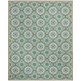 Safavieh Four Seasons Collection FRS485D Hand-Hooked Mint and Aqua Indoor/ Outdoor Area Rug (6' x 9')