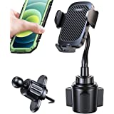 Cup Holder Phone Mount with Vent Clip Adjustable Ultra Steady Universal Cell Phone Cup Holder for Car SUV, Truck, RVs etc, Fi