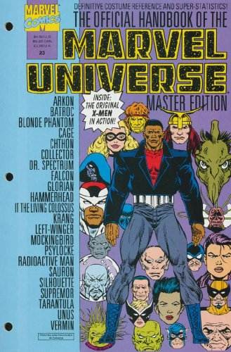 Official Handbook of The Marvel Universe Master Edition #23