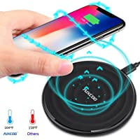 Qi Wireless Charging Pad, AUXCOO Wireless Charger Compatible with iPhone Xs Max/Xs/XR/X/10 8 Plus 8, Samsung Galaxy S9 Plus S8 Note 9 Note 8 S7 and More (No AC Adapter)