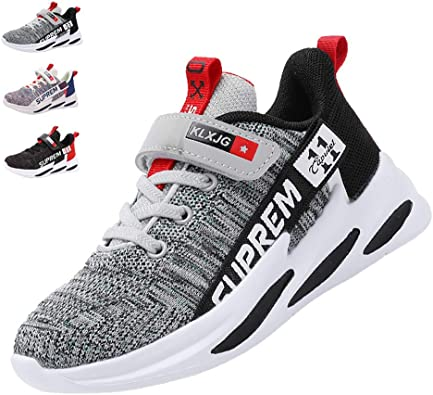 Kids Sneakers Mesh Ultra Lightweight Breathable Boys Tennis Shoes Hiking Shoes