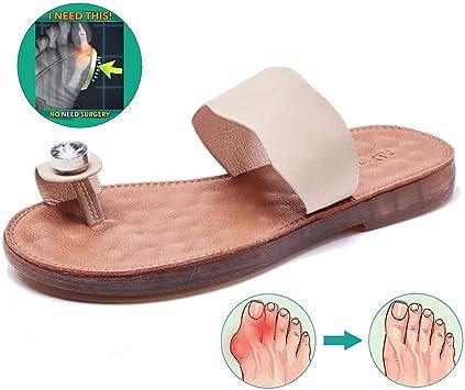 Zapatillas de Viaje de Playa de Verano Sandalias de férula de juanete Alivio del Dolor Zapatos