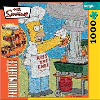 Robert Silvers Photomosaics Homer Simpson Puzzle By Buffalo Games