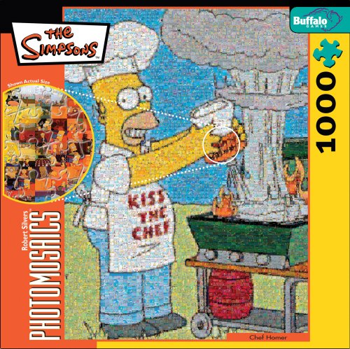 Robert Silvers Photomosaics Homer Simpson Puzzle