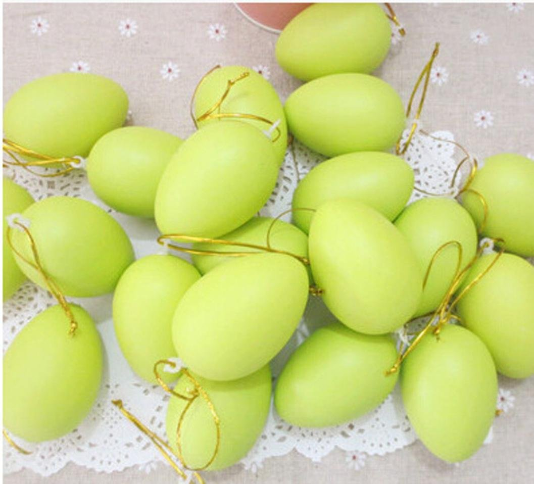 12Pcs Funny Painting Egg Toys,Mamum 12pcs Kids Children DIY Painting Egg Toy With Rope Gifts Plastic Hanging Easter