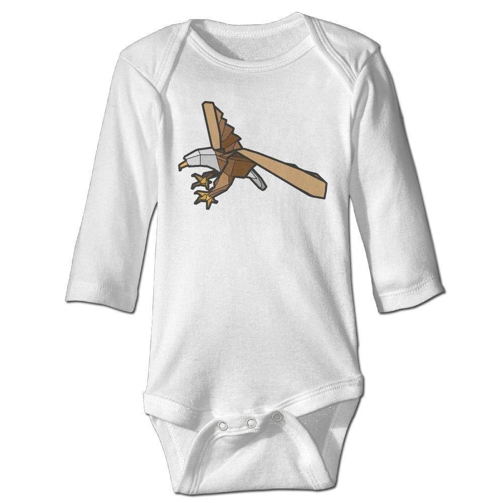 Baby Geometry Stereo Eagle Long Sleeve Romper Onesie Bodysuit Jumpsuit
