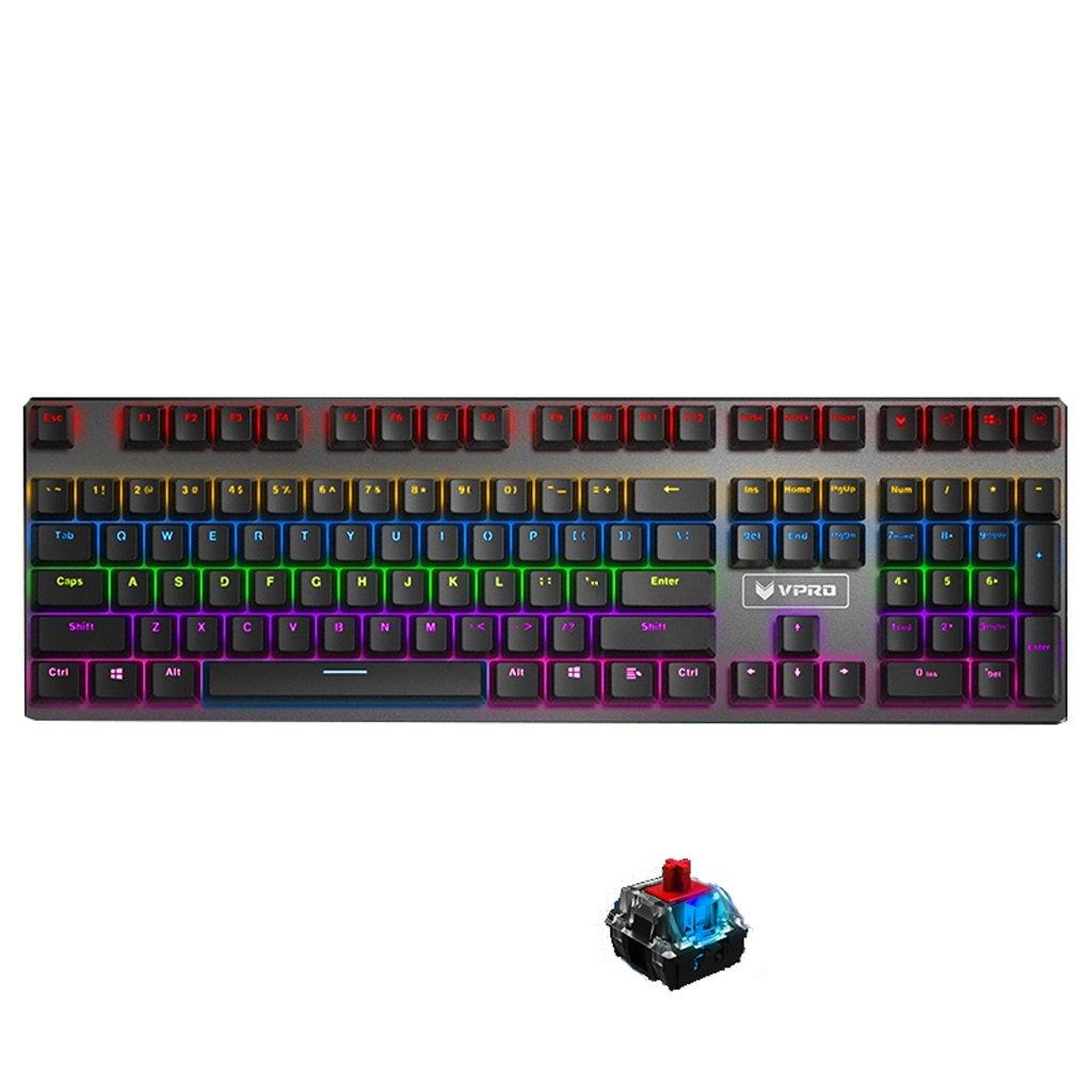 バックライト付きゲーム用キーボード有線、アンチゴースト、耐スピン性のキーボード、ゲームやタイピングに最適 (Color (Color : : Red Red axis) B07FSHRCZB, SHANKARA:25f8b40f --- elmont.su