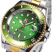 Mens Sports Watches Men Military Waterproof Analog Calendar Stainless Steel Wrist Watch