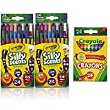 Crayola 24 Ct. Silly Scents Mini Twistables Scented Crayons 24ct (2 Pack W/Crayons)