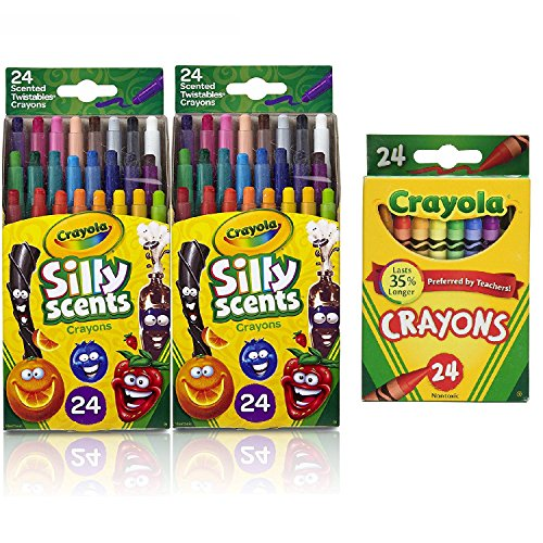 Crayola 24 Ct. Silly Scents Mini Twistables Scented Crayons 24ct (2 Pack W/Crayons) by Crayola