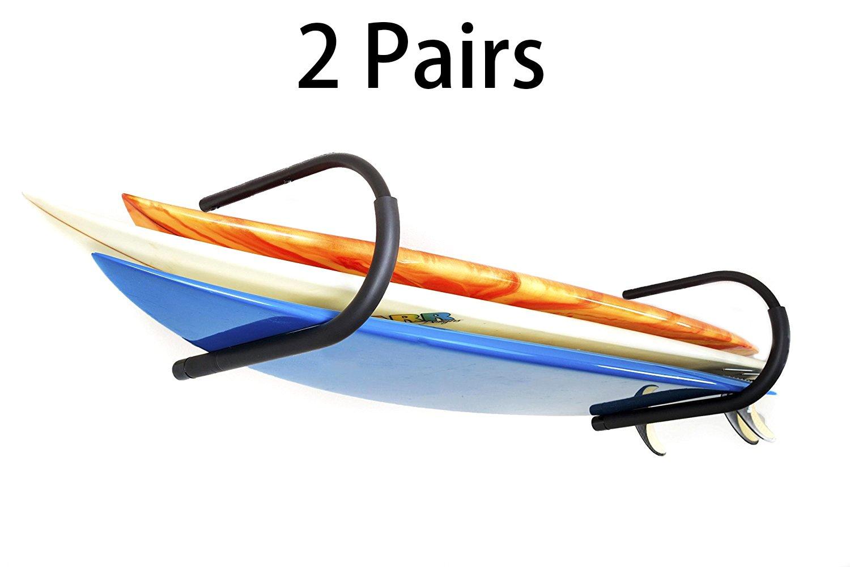 2 Pairs Protek Indoor Outdoor SUP Board Paddleboard Snowboard Surfboard Wakeboard Ski Storage Ceiling Hook or Wall Mount Display Rack Cradle