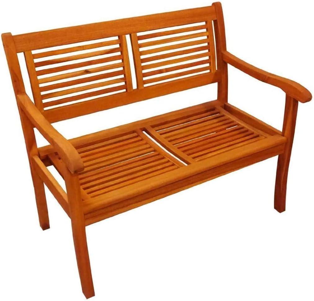 SAM® Banco de jardín Cordoba de Madera de Acacia, Anchura 110 cm, Banco de Madera con 2 plazos, Ideal para terrazas y Balcones: Amazon.es: Jardín