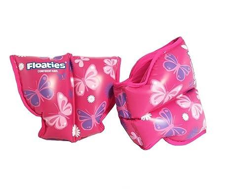 Diseño de flores y mariposas tama o peque flotadores protectores para los brazos de