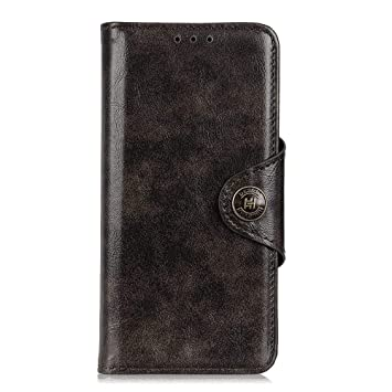 Compatible with Samsung Galaxy A50 Flip Case for Samsung Galaxy A50 Black PU Leather Cover