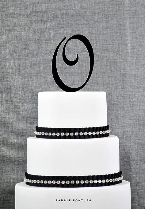 Anniversario Di Matrimonio Lettera.Topper Per Torta Personalizzabile Con Lettera O Per Matrimonio
