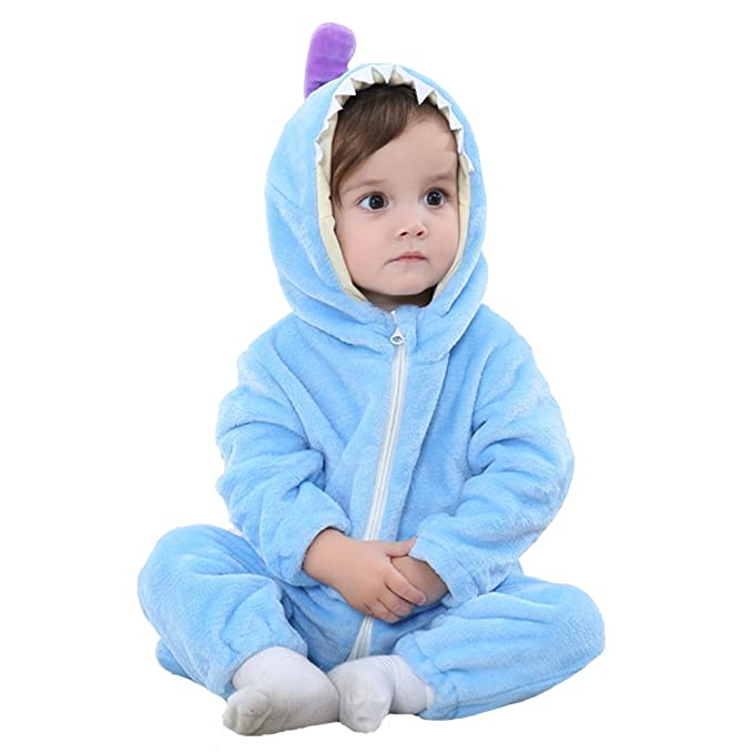 3af5086f1 MAOMAHREWW Unisex Baby Boys Girls Warm Hooded Flannel Onesie Outfit Zipper  Pajamas Size 70(3