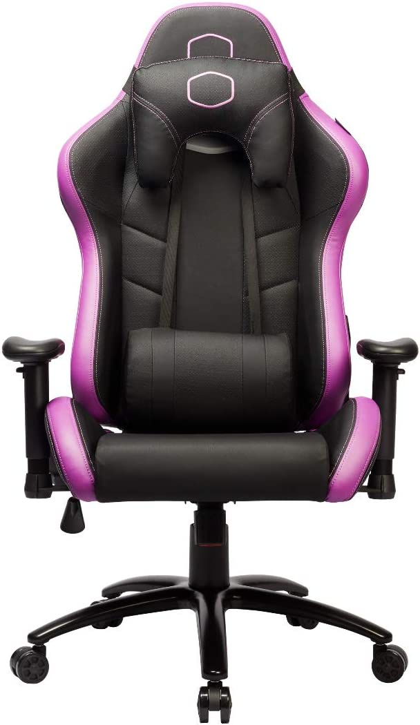 Cooler Master Caliber R2 Gaming Chair High Back Office Computer Game Chair, PU Leather Reclining Ergonomic Backrest, Headrest, Seat Height and Armrest Adjustment with Lumbar Support - Purple