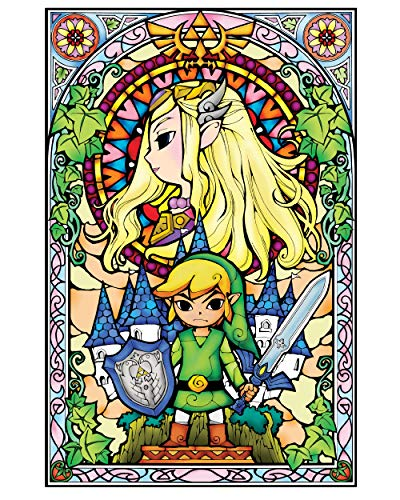 BLIK Zelda Wind Waker Princess Stained Glass Removable Wall Decal | Officially Licensed Nintendo Art | Easy Peel and Stick Design | 22.5 x 34.5 Inches
