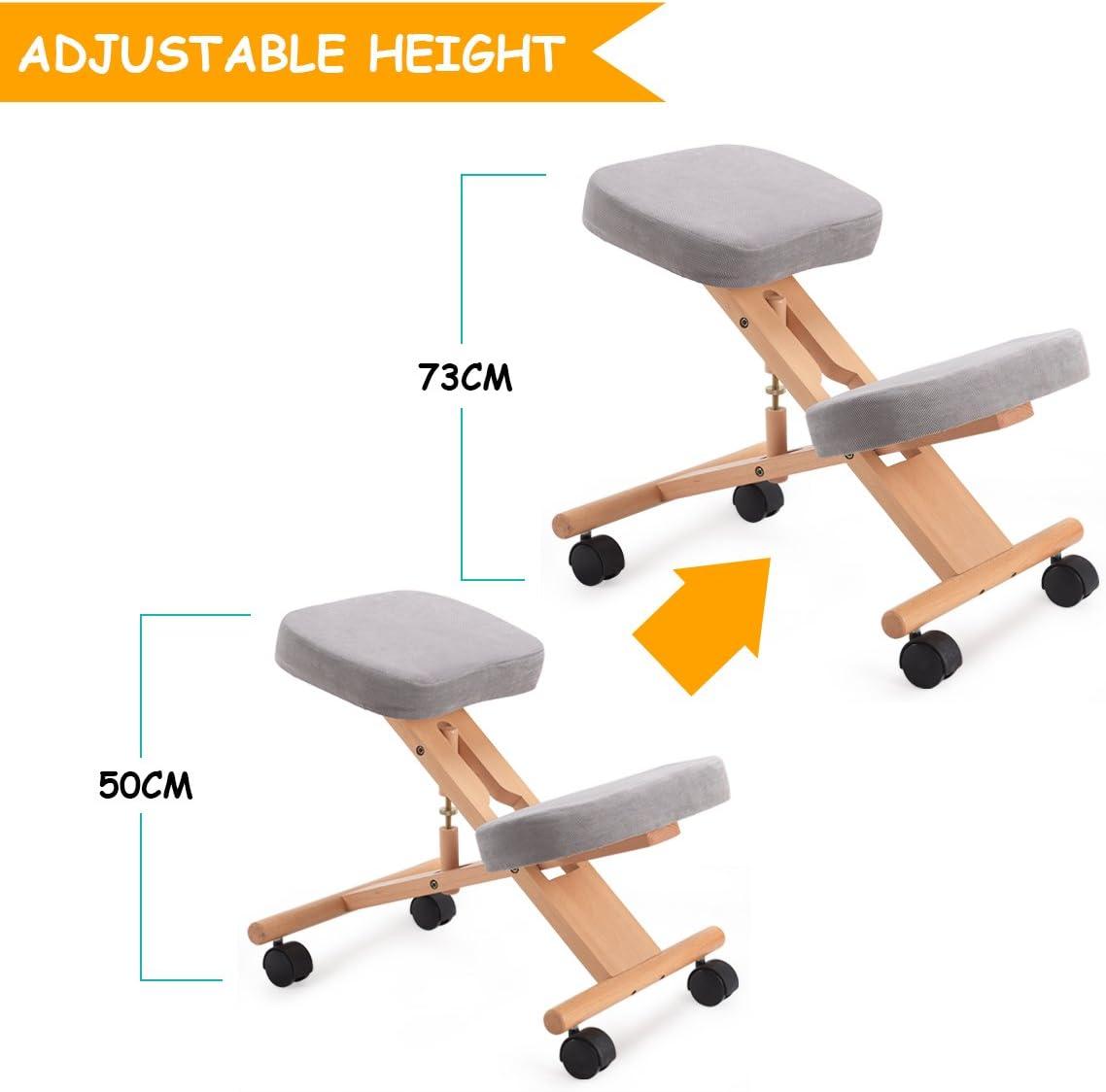 Casart in legno inginocchiatoio sedia ergonomica ortopedica