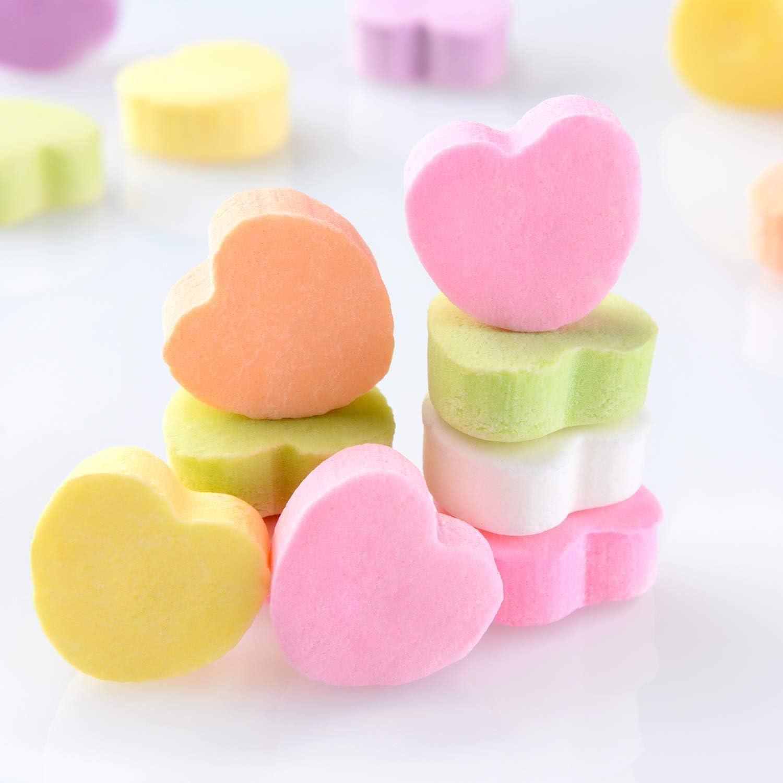 Whaline Lot de 4 moules en silicone en forme de c/œur avec 2 compte-gouttes bonbons Multicolore gla/çons chocolat