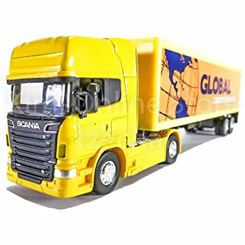 68010S-W JAN 2021 Welly MAN TGX Container truck 1:64 White