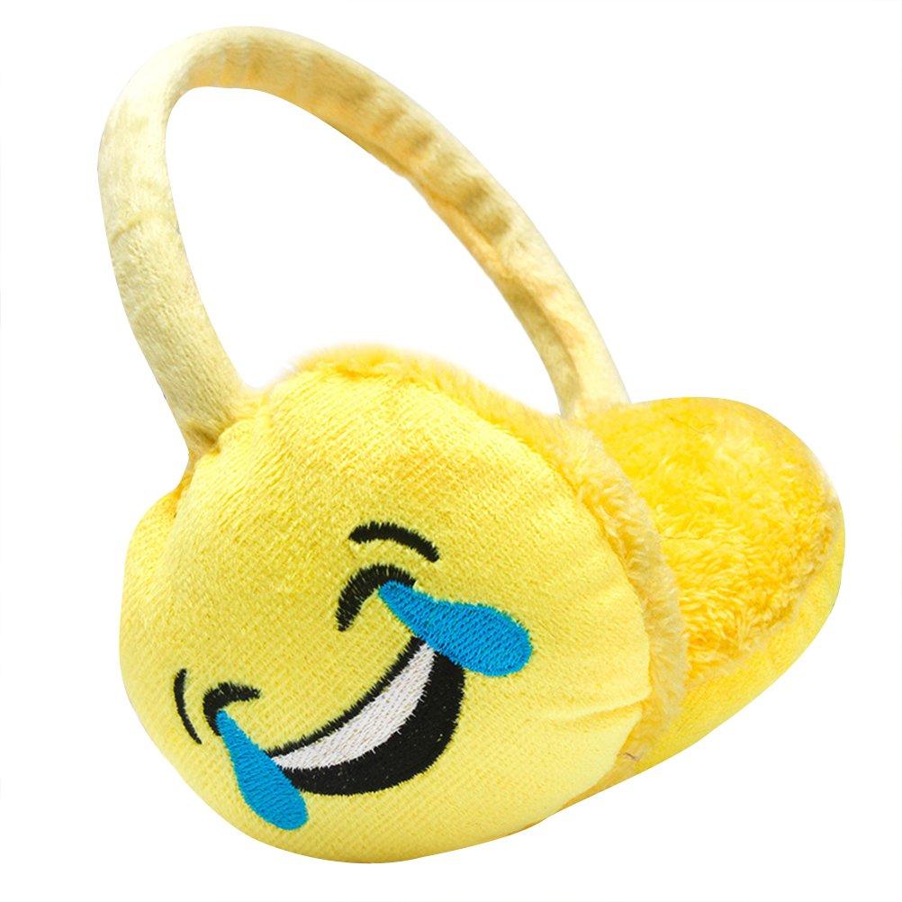 OULII Warm Earmuffs Winter Ear Warmers Ear Covers (Yellow Cute Funny Face) J46X109K501W8QJ