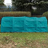 Shatex Plant Protection Breathable Reusable Plant Cover with Grommets 10x18ft Frost green
